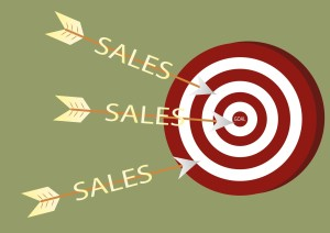 A clear sales goal gives you a clear target to shoot for!