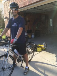 Mark Light bikes to beat off pancreatitis.