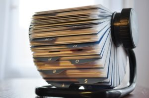 Just in case you don't know what a rolodex looks like...